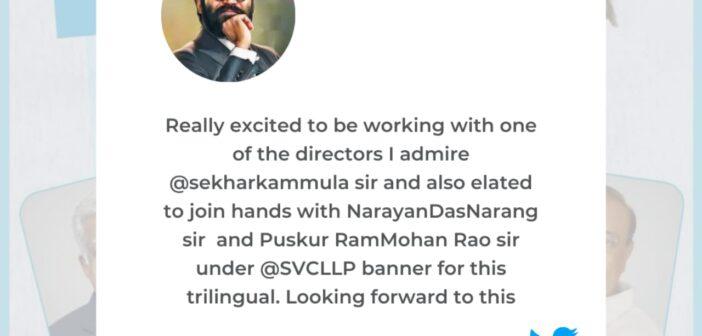 Dhanush and Director Sekhar Kammula are collaborating for a trilingual film!